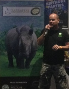 Zarraffa's Founder and Director, Kenton Campbell began the evening with why he's so passionate about helping conserve these beautiful creatures.