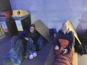 John F & Rob F at Vinnies CEO Sleepout 2017